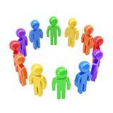 Круглая рамка сделанная группы в составе символические люди Стоковые Фотографии RF