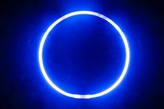 Круглая ручка зарева голубого цвета Стоковая Фотография