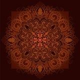 Круглая сделанная по образцу мандала 1 орнамента Стоковые Изображения RF
