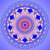 Круглая симметричная картина Мандала калейдоскопа иллюстрация штока
