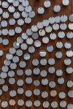 Круглая стальная пластина Стоковые Фото