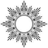 Круглая флористическая каллиграфическая граница Стоковая Фотография