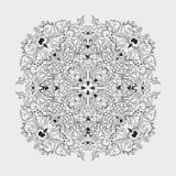 Круглая флористическая картина. kaleidoscopic мандала. Стоковые Фотографии RF