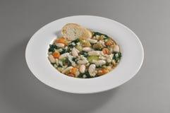 Круглое блюдо с тосканским ribollita Стоковые Фото