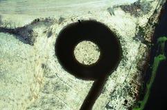 Круглое озеро в парке воды Стоковая Фотография