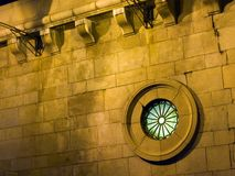 круглое окно Стоковая Фотография