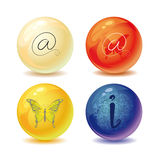 Круглые иконы Стоковые Фотографии RF