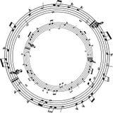 Круглые примечания музыки стоковое изображение rf