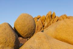 Круглые утесы на национальном парке дерева Иешуа Стоковое Изображение RF
