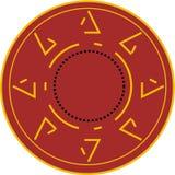 Круглый логотип в коричневой предпосылке иллюстрация вектора