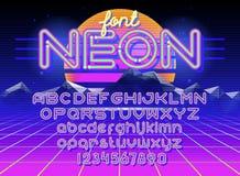 Круглый неоновый шрифт бесплатная иллюстрация