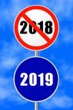 Круглый Новый Год 2019 знака стоковые изображения rf
