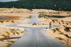 Круглый перекресток на накидке Trafalgar, Испании стоковые фотографии rf