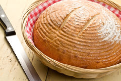 круглый стол кухни хлеба Стоковые Изображения