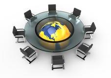 круглый стол стекла конференции Стоковая Фотография