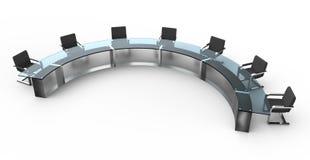 круглый стол стекла конференции Стоковое Изображение