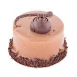 Круглый торт суфла cappucino с шоколадом стоковые изображения rf