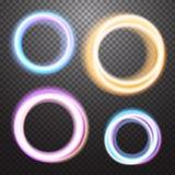 Круглый элемент дизайна влияния неонового света бесплатная иллюстрация