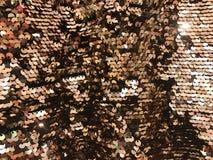 Круглый sequin золота яркого блеска Стоковое Фото