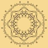 Круговая абстрактная картина в арабском стиле Стоковое Изображение RF