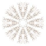 Круговая абстрактная картина в арабском стиле Стоковые Изображения