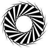 Круговая геометрическая форма Абстрактный monochrome спиральный элемент Стоковые Фотографии RF