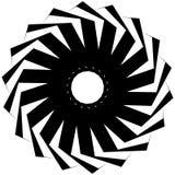 Круговая геометрическая форма Абстрактный monochrome спиральный элемент Стоковая Фотография RF