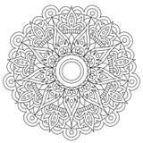 Круговая картина в форме мандалы для хны, Mehndi, татуировки, украшения Декоративный орнамент в этническом восточном стиле E иллюстрация вектора