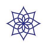 Круговая картина Геометрический значок Остроконечная звезда 7 на белой предпосылке Самомоднейший тип также вектор иллюстрации при Стоковые Изображения