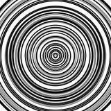 Круговая картина пульсации, концентрические круги, звенит абстрактное geom Стоковое Изображение