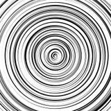 Круговая картина пульсации, концентрические круги, звенит абстрактное geom Стоковое Фото