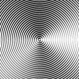 Круговая картина пульсации, концентрические круги, звенит абстрактное geom Стоковое Изображение RF