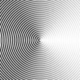 Круговая картина пульсации, концентрические круги, звенит абстрактное geom Стоковые Фотографии RF