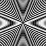 Круговая картина пульсации, концентрические круги, звенит абстрактное geom Стоковые Фото