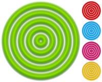 Круговая картина с концентрическими кругами Circ Faded перекрывая бесплатная иллюстрация