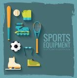 Круговая концепция стикера спортивного инвентаря Стоковое Фото