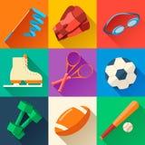 Круговая концепция стикера спортивного инвентаря Стоковое фото RF