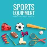 Круговая концепция стикера спортивного инвентаря Стоковая Фотография