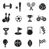 Круговая концепция стикера спортивного инвентаря Стоковые Фотографии RF
