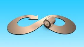 Круговая концепция экономики, иллюстрация 3D Стоковые Изображения