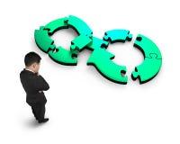 Круговая концепция экономики стоковые изображения rf