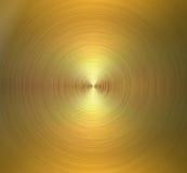 Круговая почищенная щеткой текстура металла Золотая сияющая предпосылка Стоковое Изображение