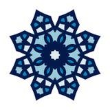 Круговая предпосылка Восточная иллюстрация картины Стилизованная мандала Снежинка Стоковое Изображение