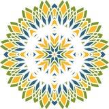 Круговая предпосылка в тенях изумруда Предпосылка циркуляра цветка Mand Стоковая Фотография RF