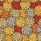 Круговая, племенная картина с мотивами африканские племена Surma и Murs Стоковое фото RF