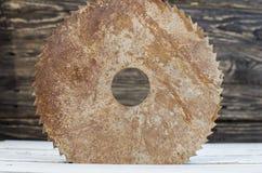 круговая ржавая пила Стоковое Изображение RF