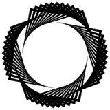 Круговая спираль, геометрический элемент круга изолированный на белизне Стоковое фото RF