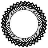 Круговая спираль, геометрический элемент круга изолированный на белизне Стоковое Изображение RF