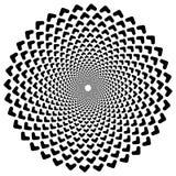 Круговая спираль, геометрический элемент круга изолированный на белизне Стоковое Фото