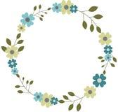 Круговая флористическая гирлянда венка рамки, круглая рамка цветка Бесплатная Иллюстрация